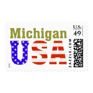 ¡Michigan los E.E.U.U.! Sello Postal