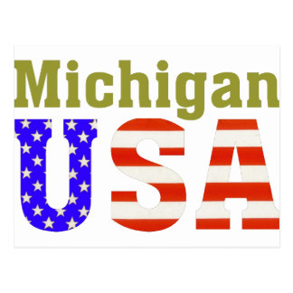 ¡Michigan los E.E.U.U.! Tarjeta Postal
