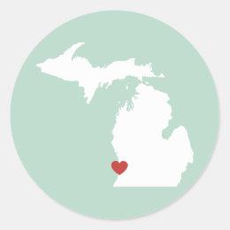 Michigan Love - Customizable Sticker