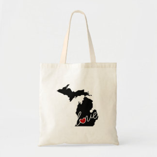 Michigan Love!  Gifts for MI Lovers Budget Tote Bag