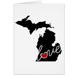 Michigan Love!  Gifts for MI Lovers Card