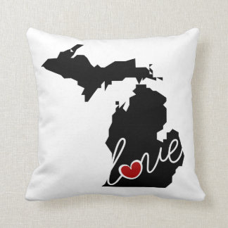 Michigan Love!  Gifts for MI Lovers Pillows