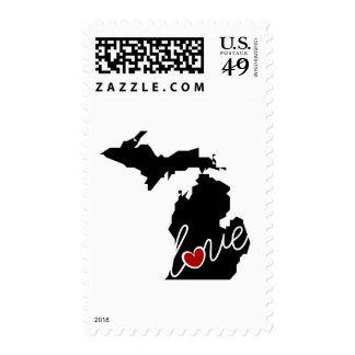 Michigan Love!  Gifts for MI Lovers Postage Stamps
