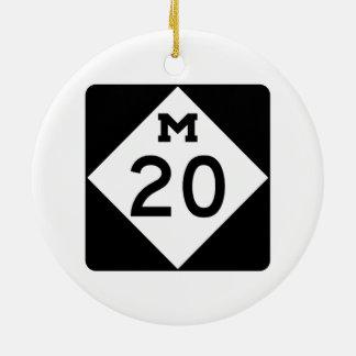 Michigan M-20 Adorno Navideño Redondo De Cerámica