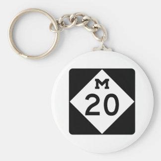 Michigan M-20 Llavero Redondo Tipo Pin