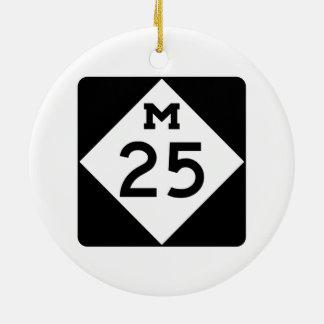 Michigan M-25 Adorno Navideño Redondo De Cerámica