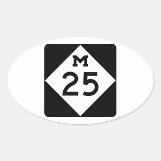 Michigan M-25 Oval Sticker