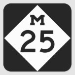 Michigan M-25 Pegatina Cuadrada