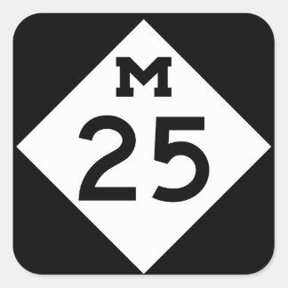 Michigan M-25 Square Sticker