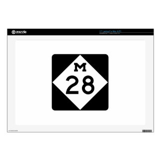 Michigan M-28 Decal For Laptop