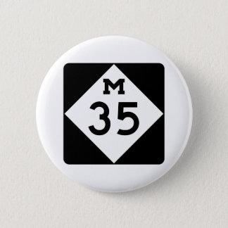 Michigan M-35 Pinback Button