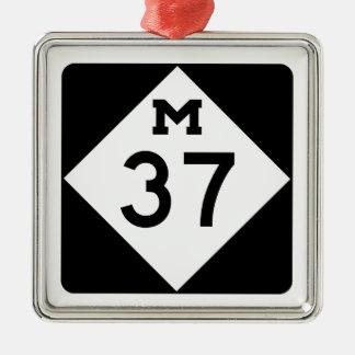 Michigan M-37 Adorno Navideño Cuadrado De Metal