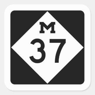 Michigan M-37 Pegatina Cuadrada