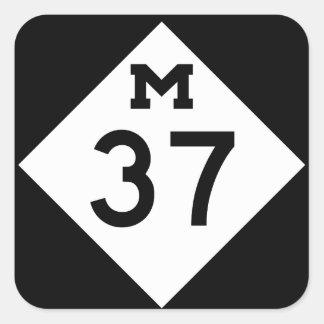 Michigan M-37 Square Sticker