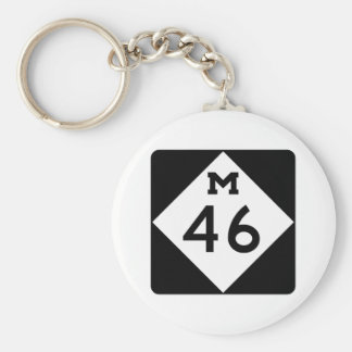 Michigan M-46 Llavero Redondo Tipo Pin