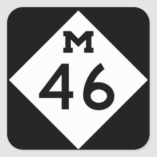 Michigan M-46 Pegatina Cuadrada