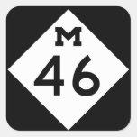 Michigan M-46 Square Sticker
