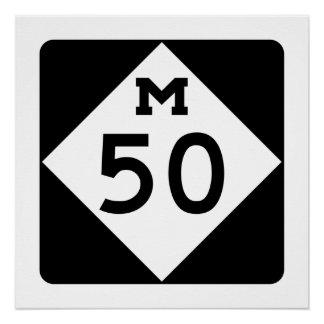 Michigan M-50 Poster