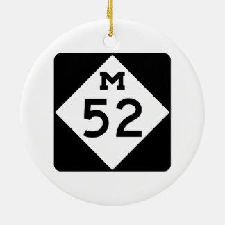 Michigan M-52 Adorno Navideño Redondo De Cerámica