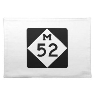 Michigan M-52 Cloth Placemat