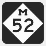 Michigan M-52 Pegatina Cuadrada