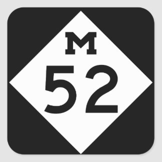 Michigan M-52 Square Sticker