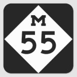 Michigan M-55 Pegatina Cuadrada