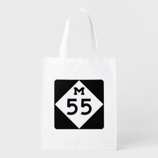 Michigan M-55 Reusable Grocery Bag
