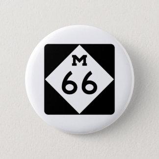 Michigan M-66 Pinback Button