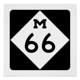 Michigan M-66 Poster