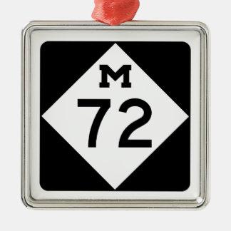 Michigan M-72 Adorno Navideño Cuadrado De Metal