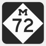 Michigan M-72 Pegatina Cuadrada