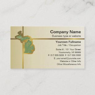 Michigan state business cards zazzle michigan map business card colourmoves