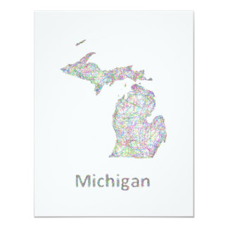 Michigan map card