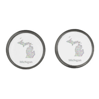 Michigan map cufflinks