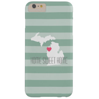 Michigan Map Home State Love with Custom Heart iPhone 6 Plus Case