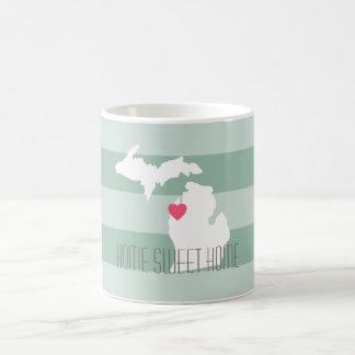Michigan Map Home State Love with Custom Heart Coffee Mug
