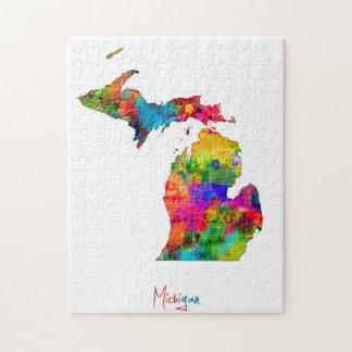 Michigan Map Jigsaw Puzzle