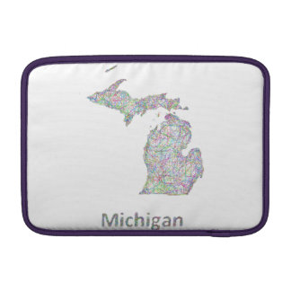 Michigan map MacBook sleeve