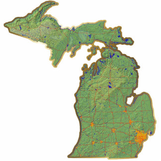 Michigan Map Magnet Cut Out