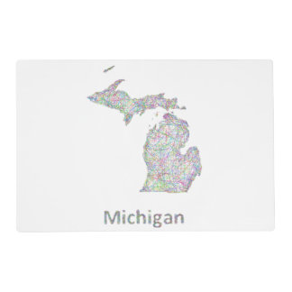Michigan map placemat