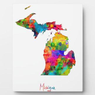 Michigan Map Plaque