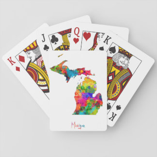 Michigan Map Playing Cards