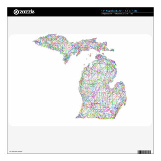 Michigan map skin for MacBook air
