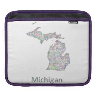 Michigan map sleeve for iPads