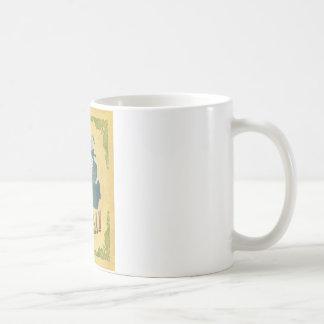 Michigan Map With Lovely Birds Coffee Mug