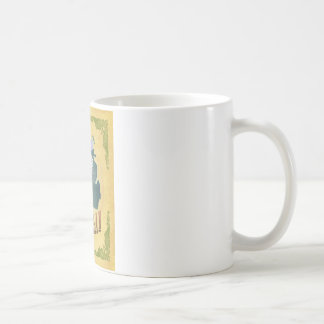Michigan Map With Lovely Birds Coffee Mugs