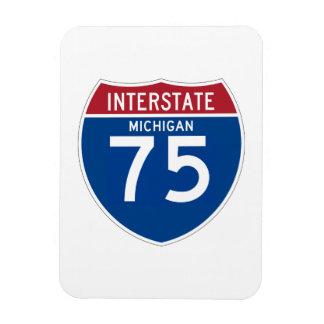 Michigan MI I-75 Interstate Highway Shield - Magnet