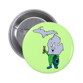Michigan MI Vintage Travel Souvenir 2 Inch Round Button