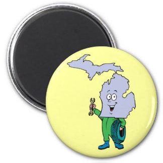 Michigan MI Vintage Travel Souvenir 2 Inch Round Magnet